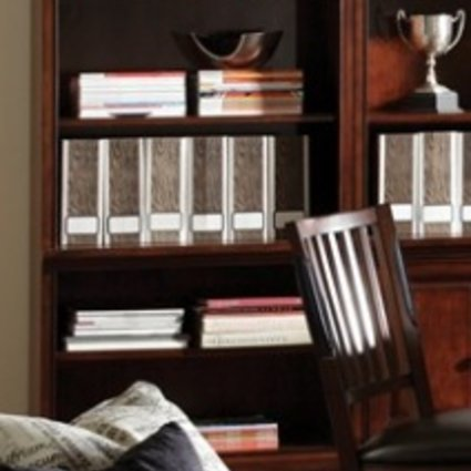 OFFICE E2 BOOKCASE WITH DOORS CHERRY FINISH