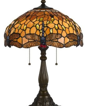 LIGHTING TIFFANY TABLE LAMP WITH ZINC CAST BASE <br /> TIFFANY TABLE LAMP WITH ZINC CAST BASE