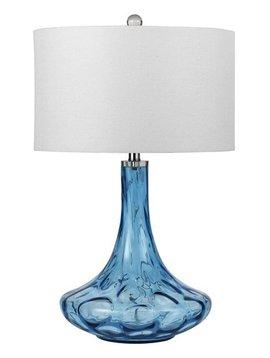 LIGHTING EUSTIS GLASS TABLE LAMP 150W