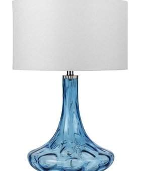 LIGHTING EUSTIS GLASS TABLE LAMP 150W