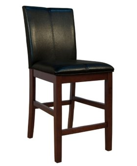 """DINING 24"""" CURVED BACK PARSON STOOL BLACK"""