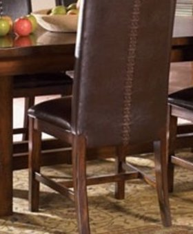 """TABLE 44"""" TRESTLE DINING TABLE WITH 16"""" LEAF SOLID MAHOGANY"""