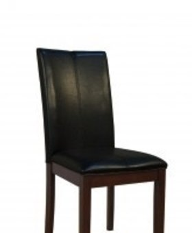 DINING CURVED BACK PARSONS CHAIR BLACK