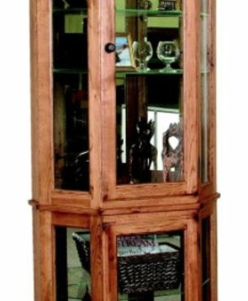 ENTERTAINMENT SEDONA 5 SIDED CURIO CABINET
