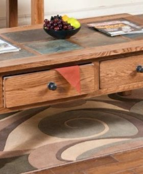 OCCASIONAL TABLE SEDONA SLATE TOP COFFEE TABLE
