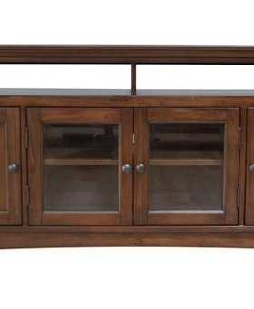 """ENTERTAINMENT WESTLAKE 52"""" CONSOLE CHERRY BROWN FINISH"""