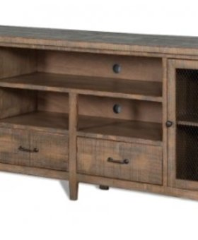 "ENTERTAINMENT DRIFT WOOD 78"" TV CONSOLE WITH DRAWERS"
