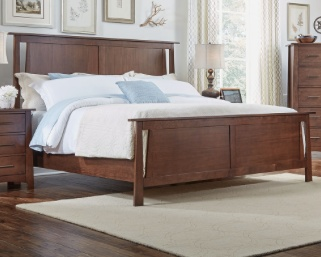 BEDROOM SODO QUEEN BED WITH STORAGE WHISKEY BROWN FINISH
