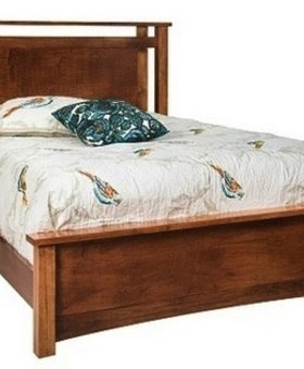 BEDROOM SYDNEY KING SIZE BED  BROWN MAPLE WITH HAZLENUT FINISH