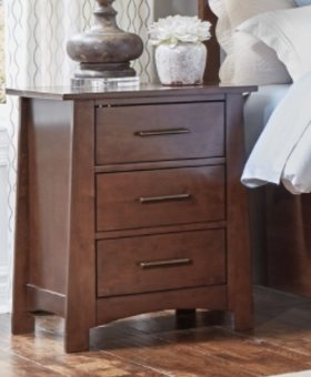 BEDROOM SODO NIGHTSTAND WHISKEY BROWN FINISH