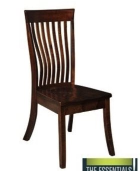 CHAIR KENNEBEC SIDE CHAIR SOLID BROWN MAPLE ASBURY FINISH
