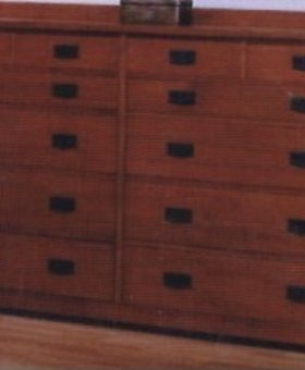 BEDROOM <h2>12 DRAWER MULE CHEST MISSION CHERRY</h2>