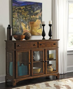 DINING Laurelhurst 3 Door Server - Rustic Oak (PICTURED IN MISSION OAK FINISH)