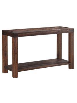 BEDROOM MEADOW SOFA CONSOLE TABLE ACACIA WOOD BRICK BROWN FINISH