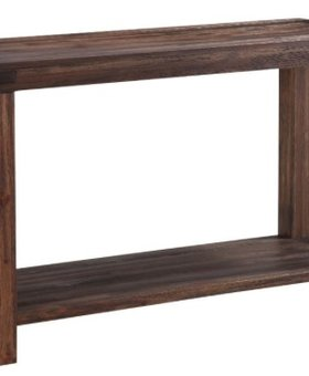 BEDROOM MEADOW SOFA CONSOLE TABLE ACACIA WOOD BRICK BROWN FINISH