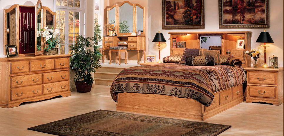 BEDROOM 2 DRAWER NIGHTSTAND MEDIUM OAK FINISH NO CARVINGS