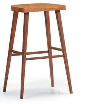 BARSTOOL LAST ONE! SALIX BAR HEIGHT STOOL SOLID MOSO BAMBOO CARAMELIZED FINISH