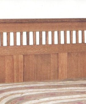 BEDROOM KING SPINDLE PANEL HEADBOARD MISSION CHERRY