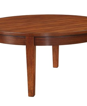 "ENTERTAINMENT <h2>38"" ROUND DAVENPORT COFFEE TABLE</h2>"