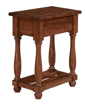 """OCCASIONAL TABLE 14"""" JAVA CHAIR SIDE TABLE MANGO #2 FINISH"""