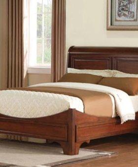 BEDROOM RENAISSANCE KING SLEIGH BED CHERRY FINISH