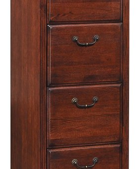 FILE CABINET HUNTINGTON 4 DRAWER FILE BURNISHED