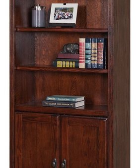 BOOKCASE <h2>HUNTINGTON BOOKCASE W/DOORS BURNISHED</h2>