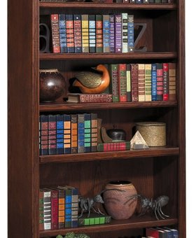 "BOOKCASE <h2>HUNTINGTON 72"" BOOKCASE BURNISHED FINISH</h2>"