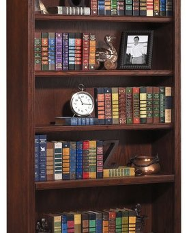 "BOOKCASE <h2>HUNTINGTON 84"" BOOKCASE BURNISHED FINISH</h2>"