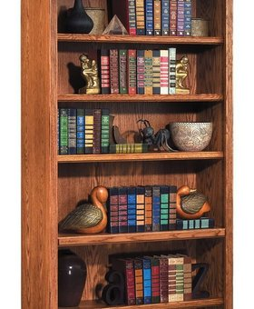 "BOOKCASE <h2>HUNTINGTON 84"" HIGH BOOKCASE WHEAT FINISH</h2>"
