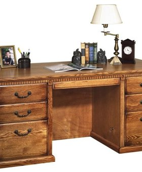 DESK HUNTINGTON EXECUTIVE DESK WHEAT finish