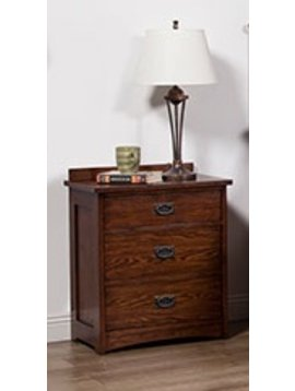 BEDROOM 3 DRAWER MISSION NIGHTSTAND