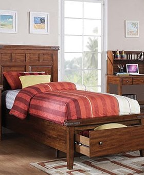 BEDROOM MANGO TWIN BED WITH STORAGE