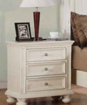 "BEDROOM <h2>26"" NITESTAND CAPE COD EGGSHELL WHITE FINISH</h2>"