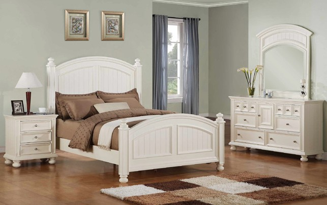 """BEDROOM 26"""" NITESTAND CAPE COD EGGSHELL WHITE FINISH WITH METAL DRAWER GLIDES"""