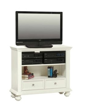 "ENTERTAINMENT 42"" BOOKCASE MEDIA BASE EGGSHELL WHITE"