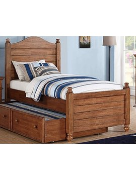 BEDROOM QUAILS RUN TWIN PANEL BED (not including trundle box) ACACIA WOOD