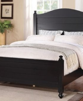 BEDROOM QUAIL RUN QUEEN PANEL BED ACACIA 2 AND EBONY FINISH