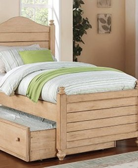 BEDROOM QUAIL RUN FULL PANEL BED WHEAT FINISH