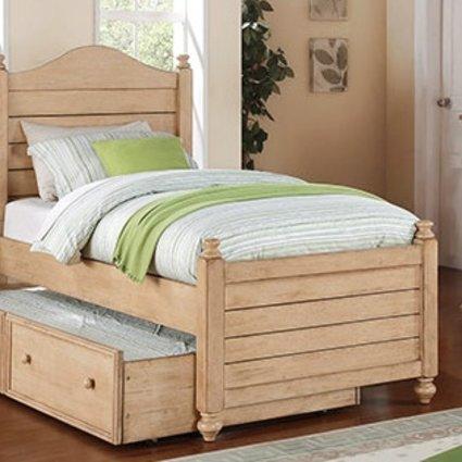 BEDROOM QUAIL RUN FULL PANEL BED WHEAT FINISH