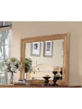 BEDROOM LANDSCAPE MIRROR FOR DRESSER WHEAT FINISH