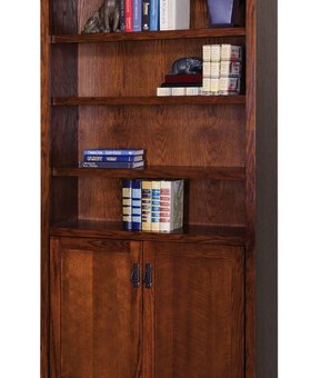 OFFICE <h2>MISSION PASADENA BOOKCASE WITH LOWER DOORS</h2>