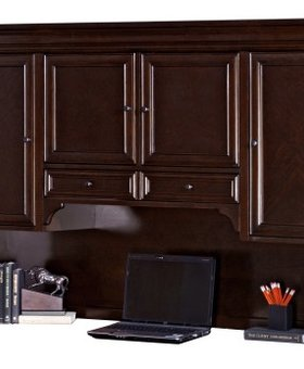 OFFICE MOUNT VIEW STORAGE HUTCH WITH PULL-OUT TASK LIGHT