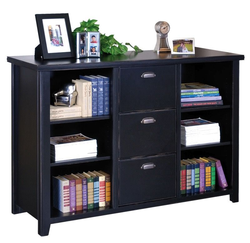 TRIBECA LOFT 3 DRAWER FILE/BOOKCASE