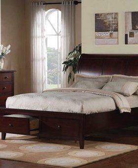BEDROOM VINTAGE CHERRY QUEEN STORAGE BED