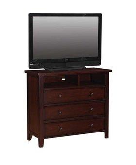 BEDROOM VINTAGE CHERRY TV CHEST