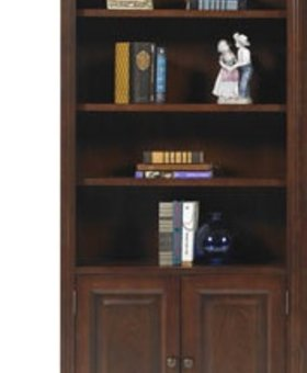 """OFFICE 78.5"""" CLASSIC CHERRY BOOKCASE WITH DOORS"""