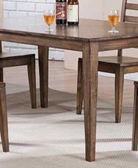 "DINING 60"" LEG TABLE RUST BROWN FINISH"