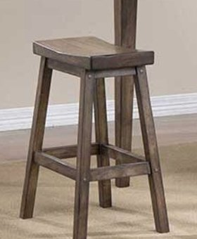 "DINING 24"" SADDLE BARSTOOL RUST BROWN FINISH"