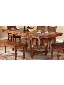 """TABLE <h2>GRAND ESTATE 92"""" PEDESTAL TABLE WITH 12"""" LEAVES</h2>"""